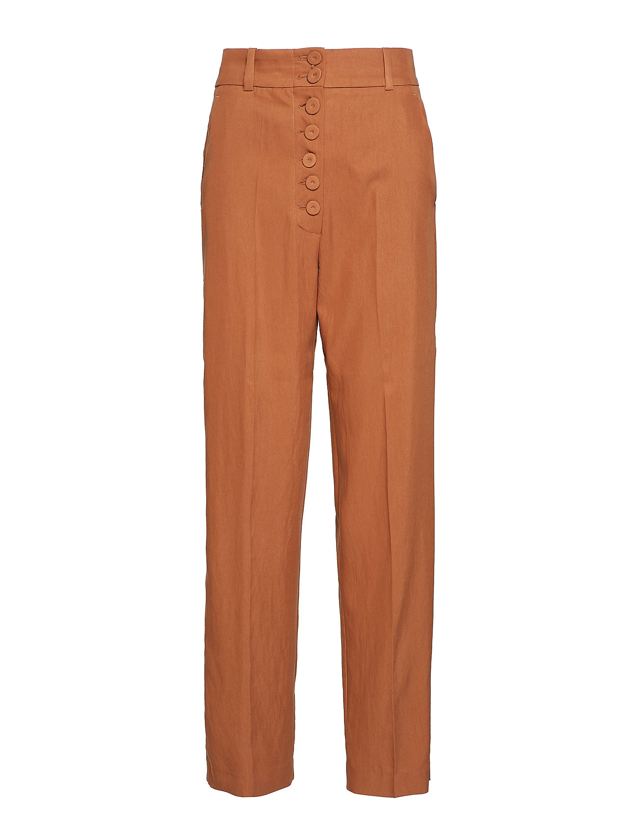 Mango Buttoned soft fabric trousers Byxor