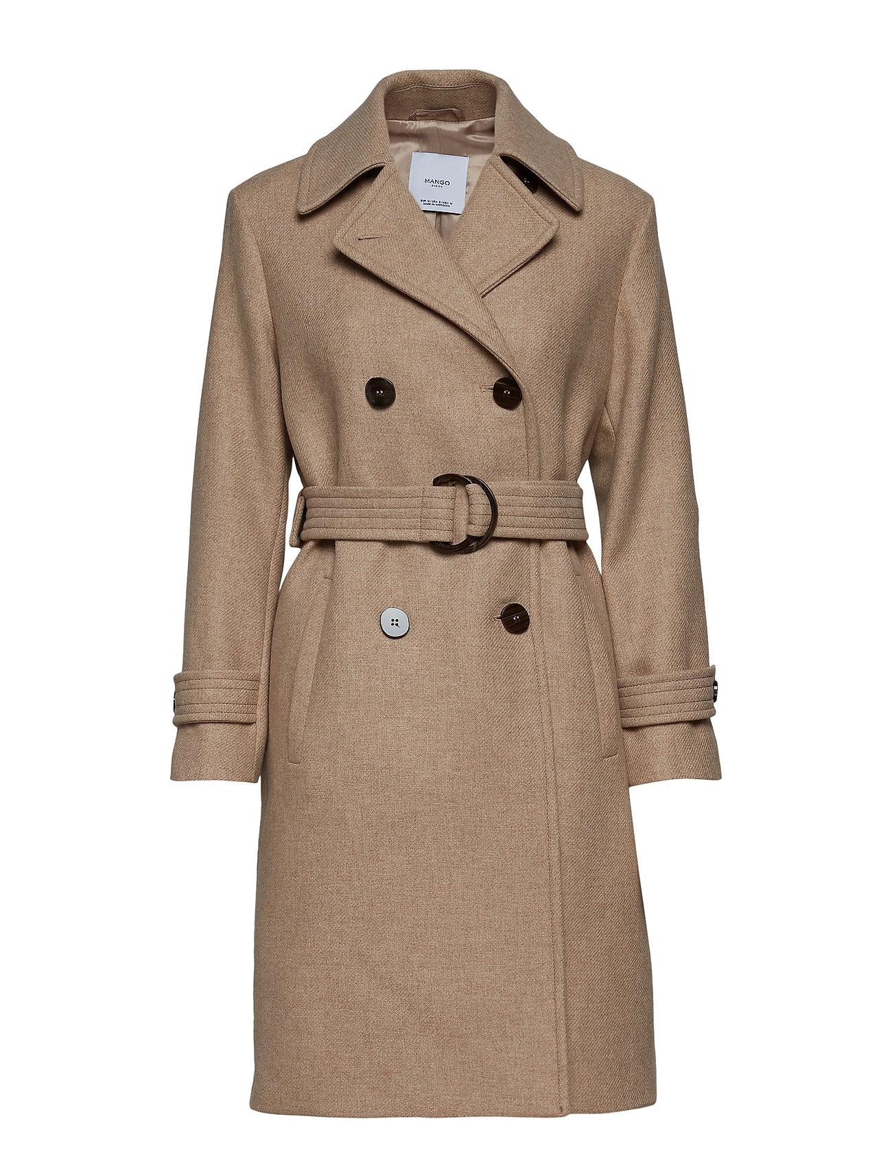 Mango Double-breasted wool coat