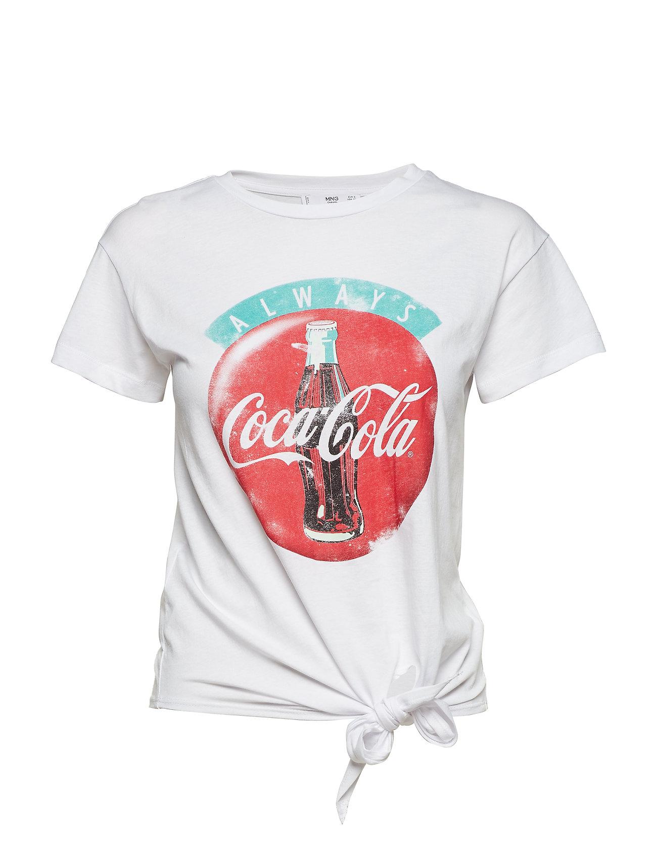 Coca Cola T Shirt T shirt Top Hvid MANGO
