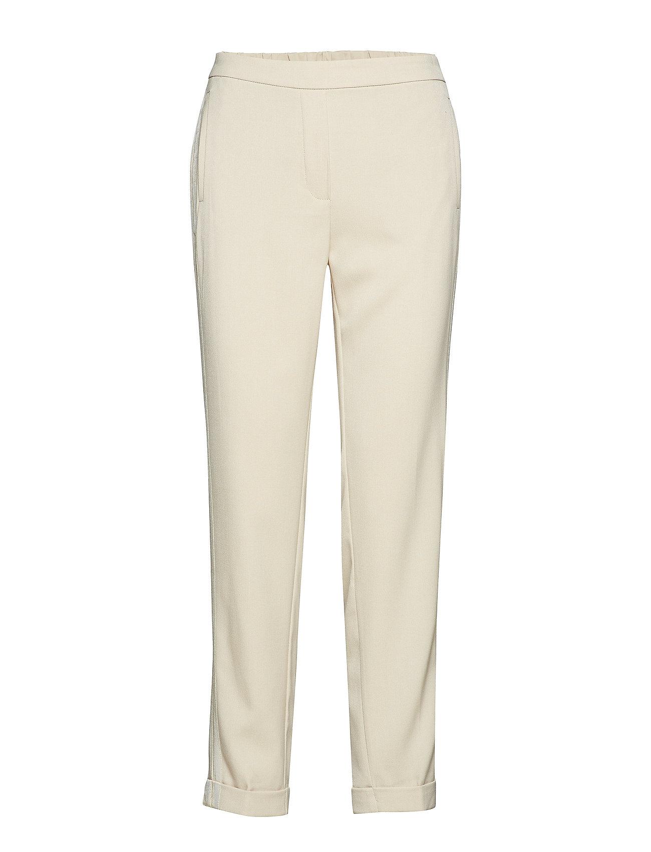 8577dc9c097f Elastic Waist Trousers Byxa Med Raka Ben Creme