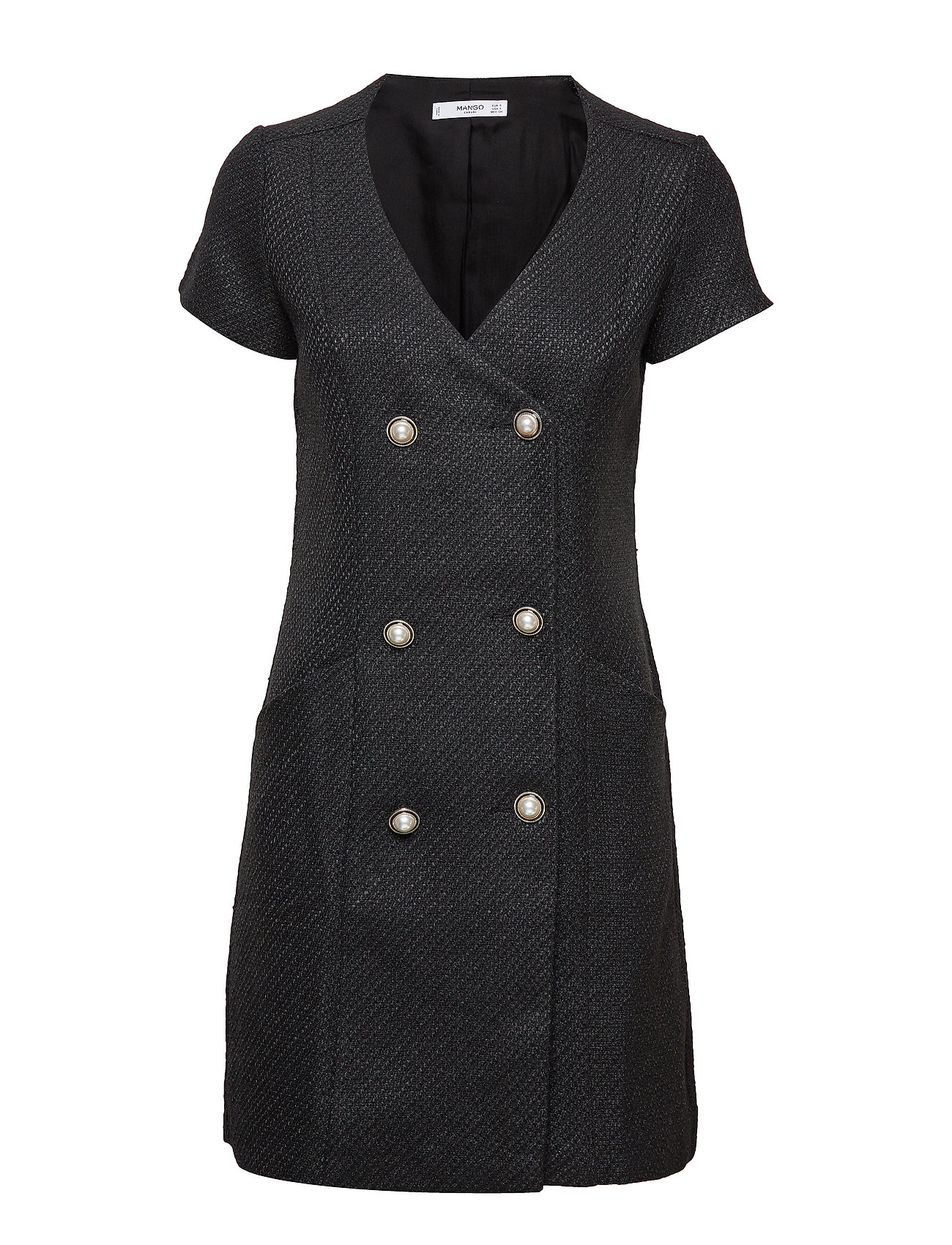 Mango Buttons tweed dress