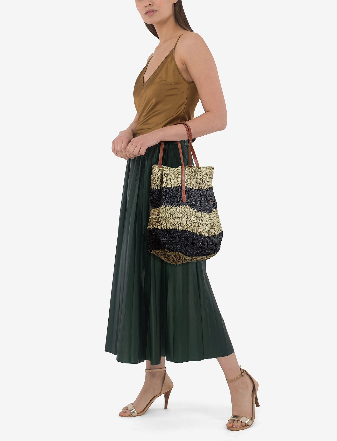 Mango Braided shopper bag