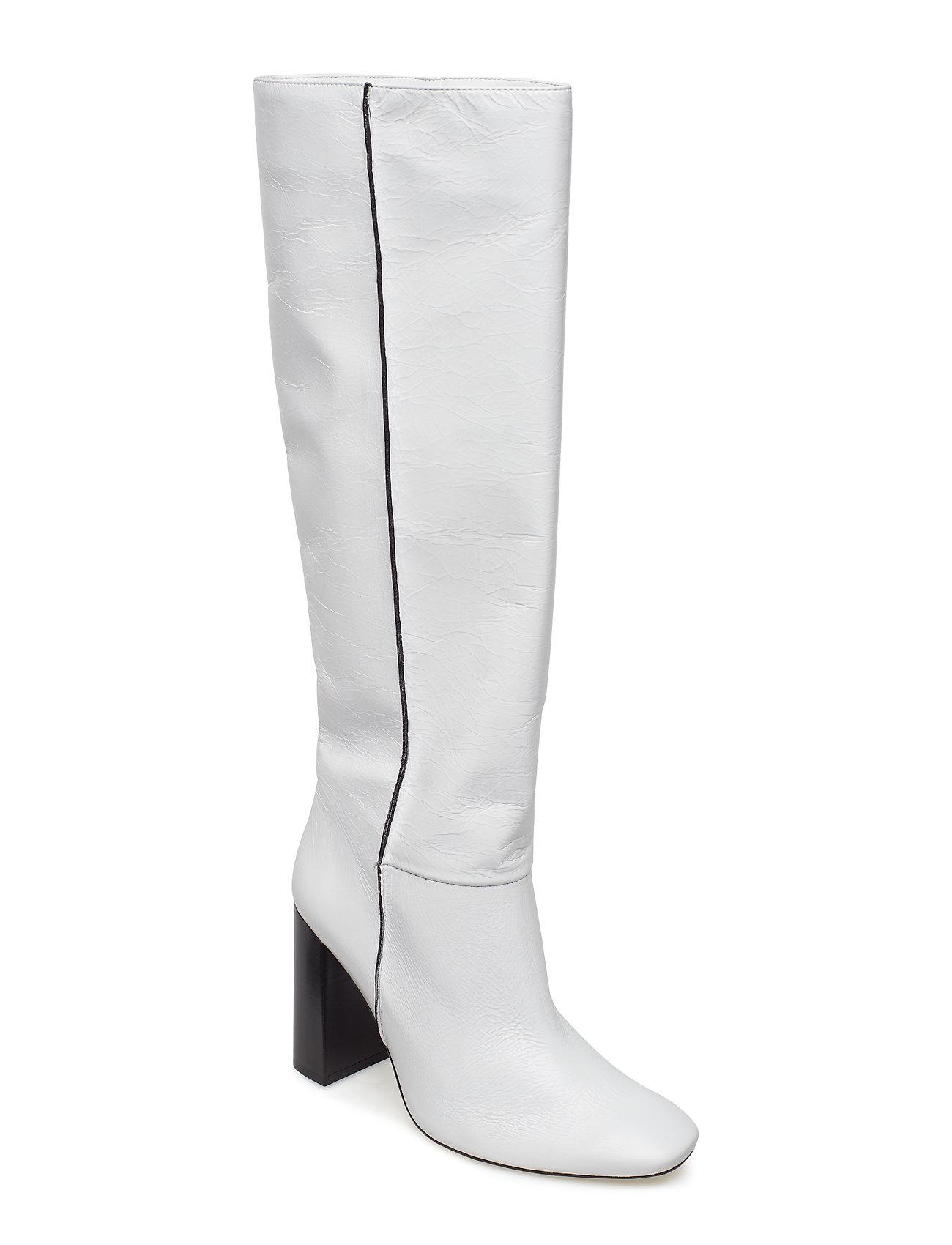Mango Leather high leg boots Stövlar