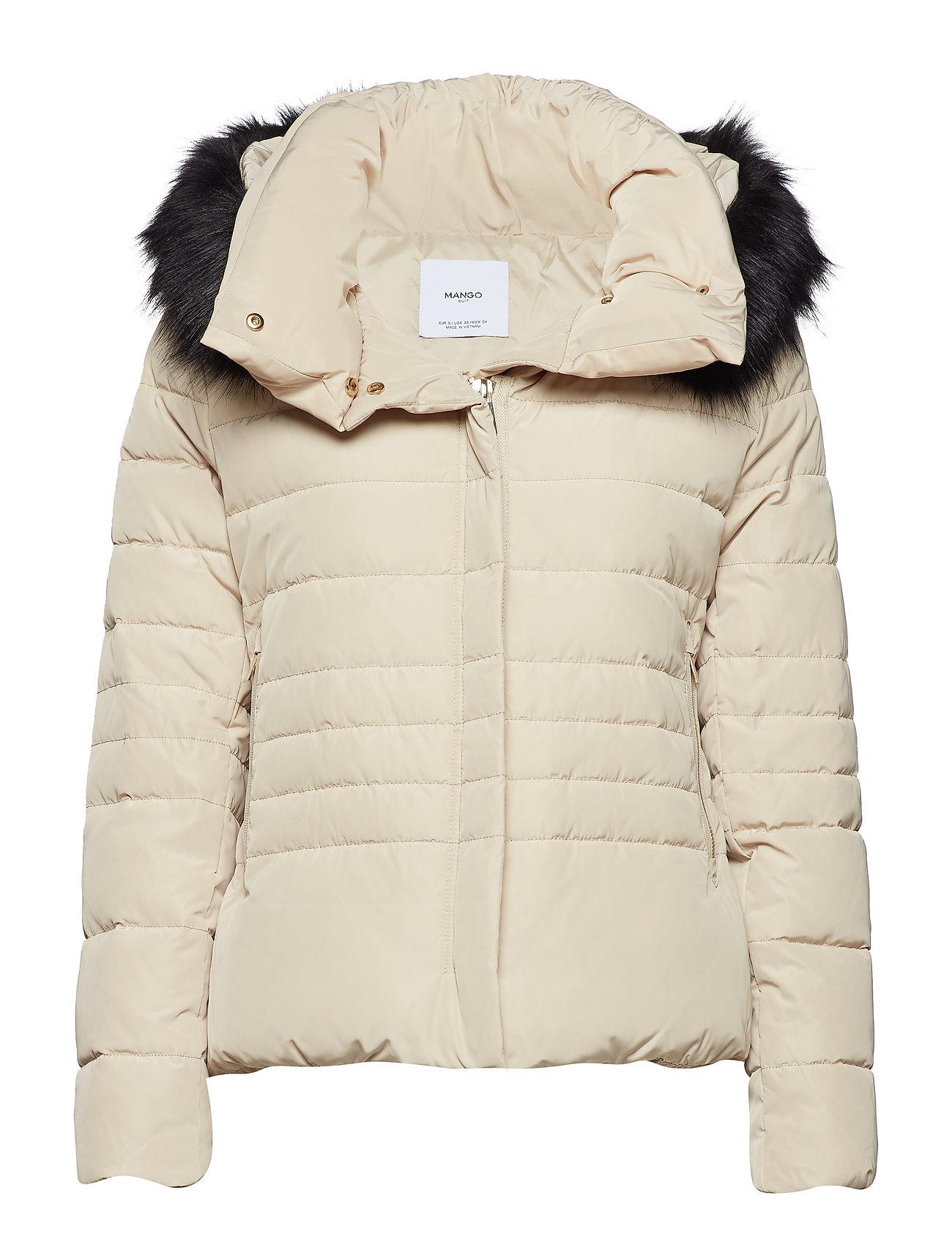 Mango Detachable hood feather down coat