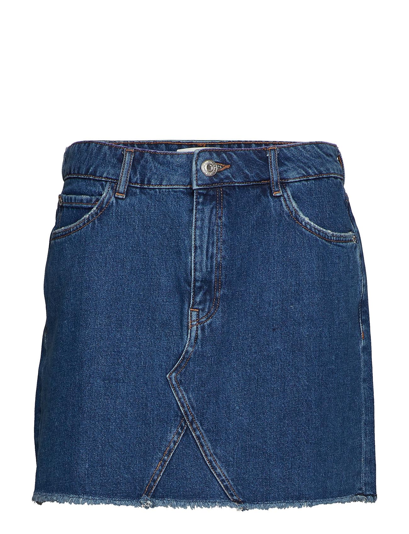 e61fceeb6943 Denim Miniskirt Kort Kjol Blå MANGO