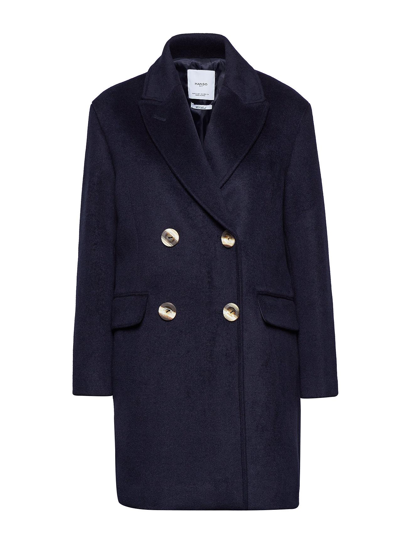 Mango Buttoned wool coat Ytterkläder