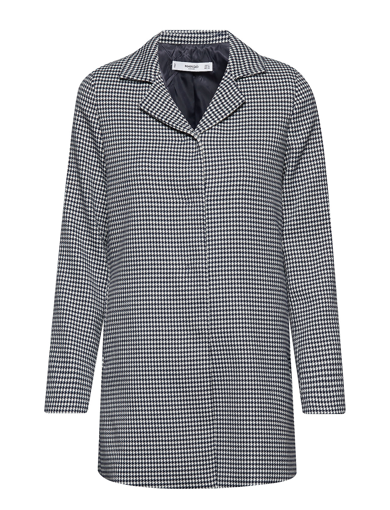 Mango Structured houndstooth coat
