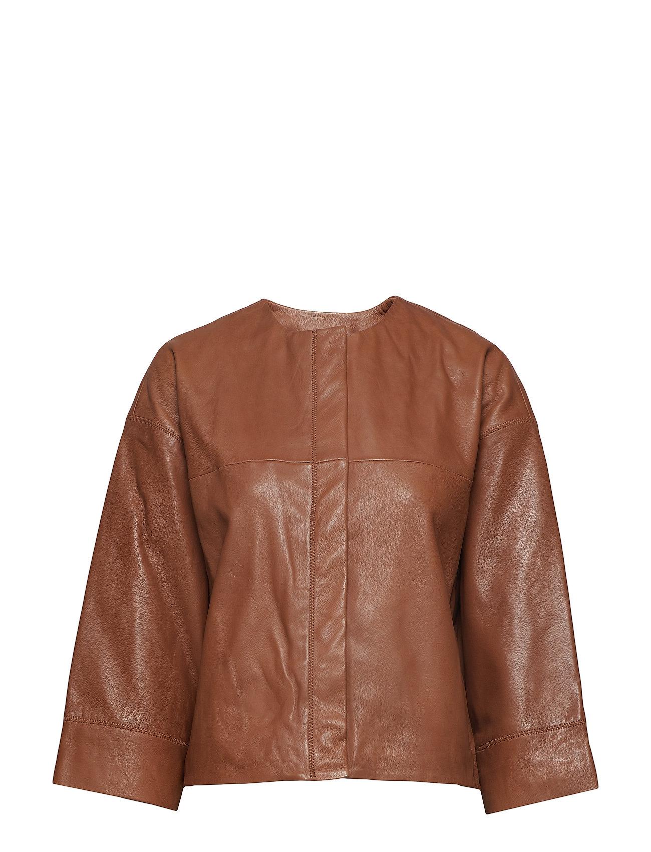 Mango Leather jacket Ytterkläder