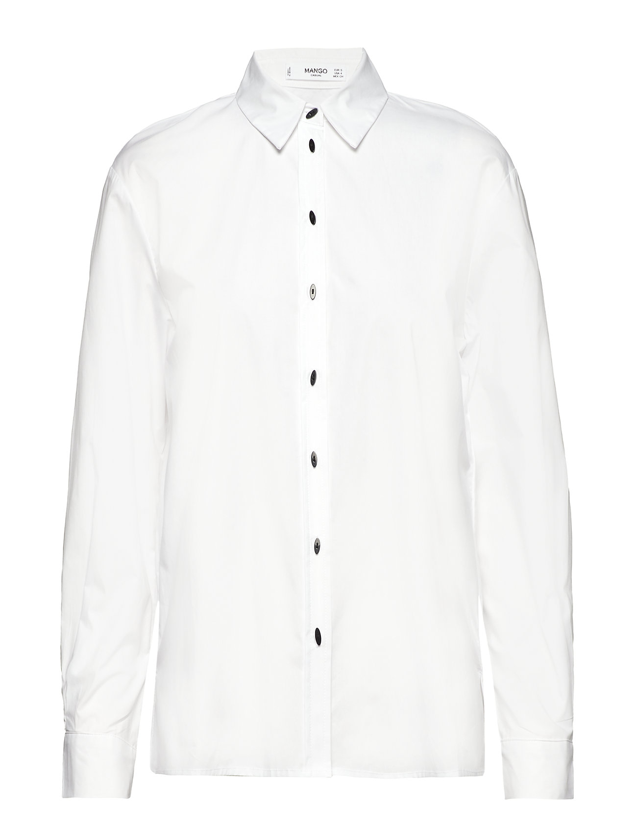 Mango Contrasted buttons shirt Ögrönlar