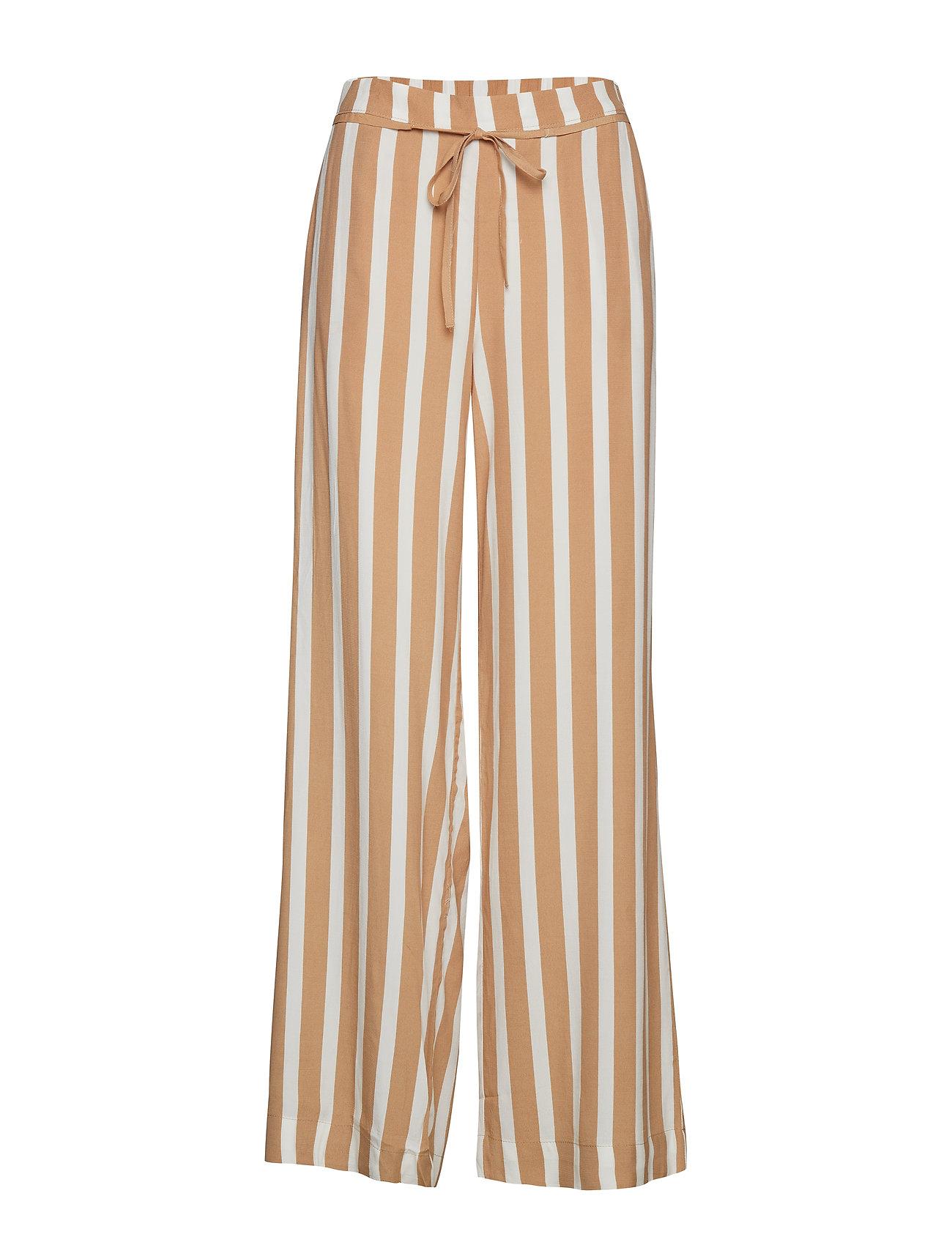 Mango Flowy printed trousers - LIGHT BEIGE
