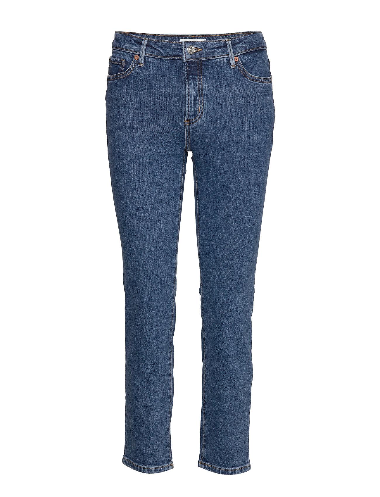 Mango Cropped slim-fit Grace jeans - OPEN BLUE