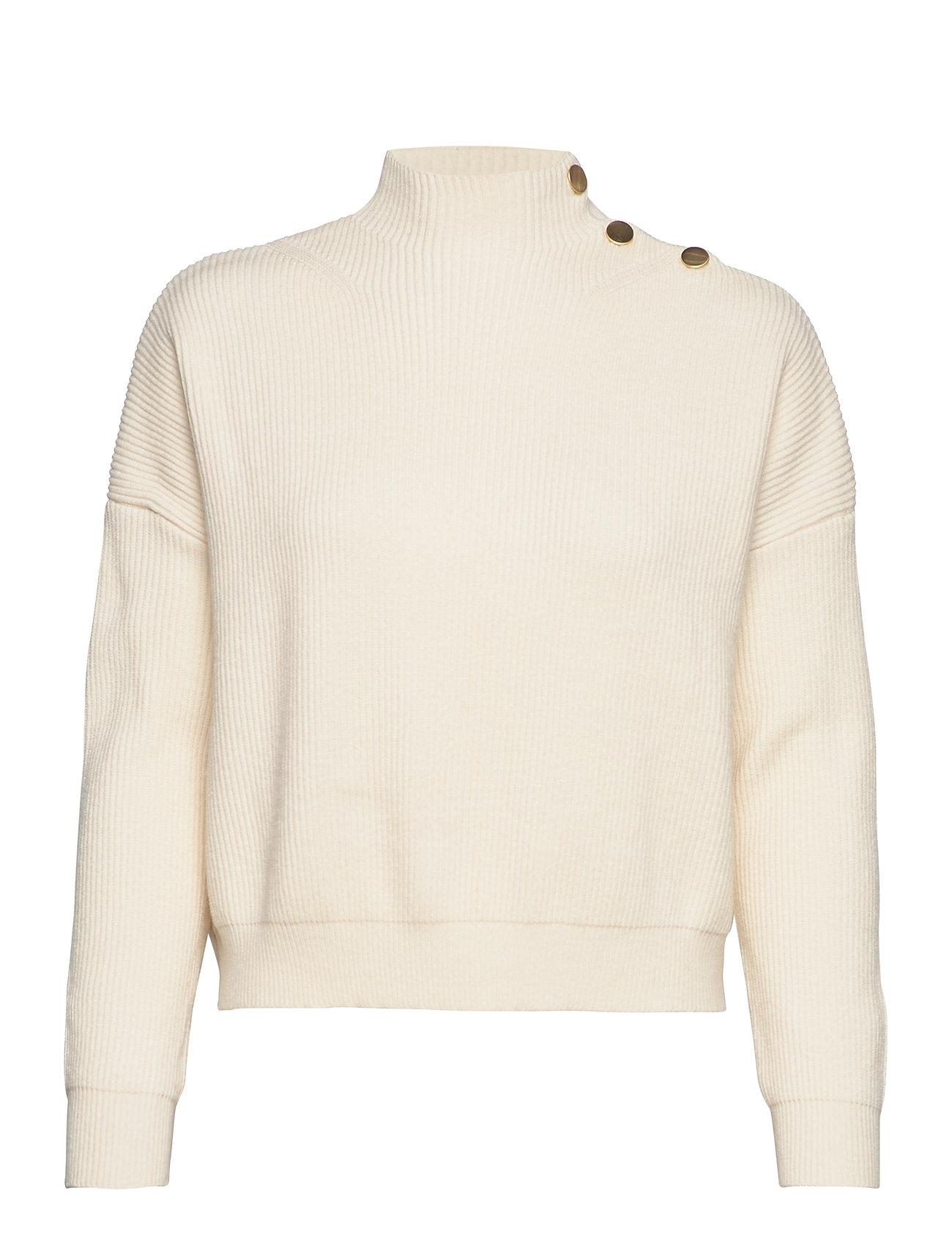 Mango Button sweater - LIGHT BEIGE