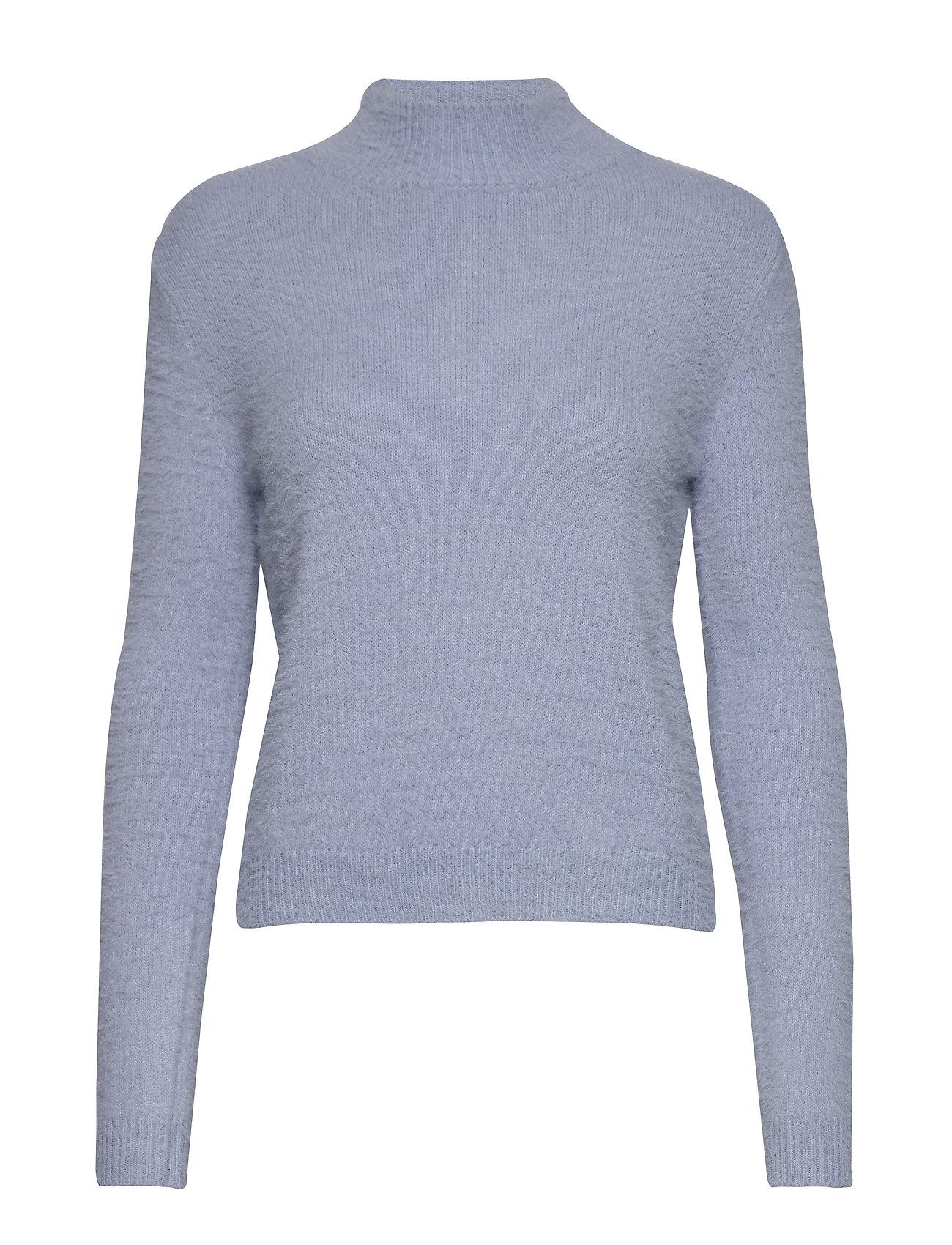 Mango Textured knit sweater - LT-PASTEL BLUE