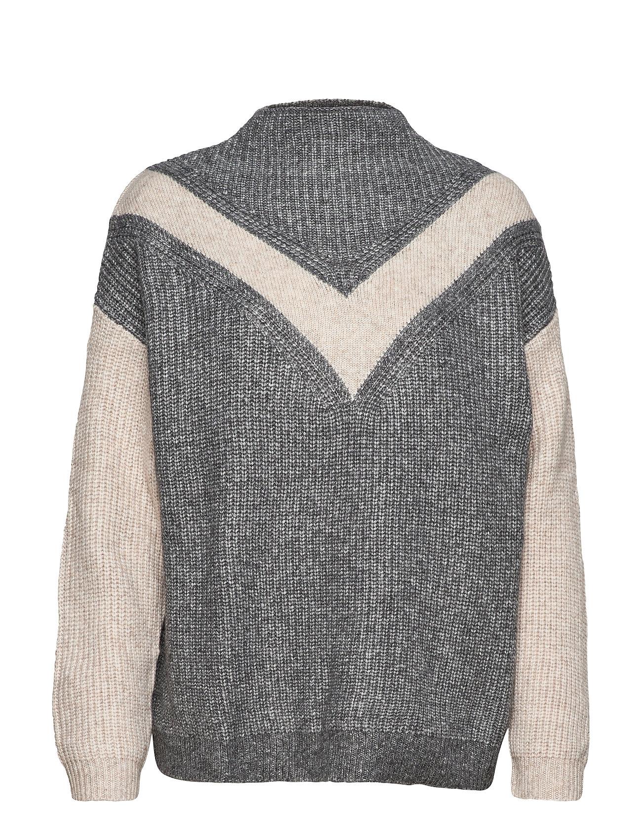 Mango Bow flecked sweater - GREY