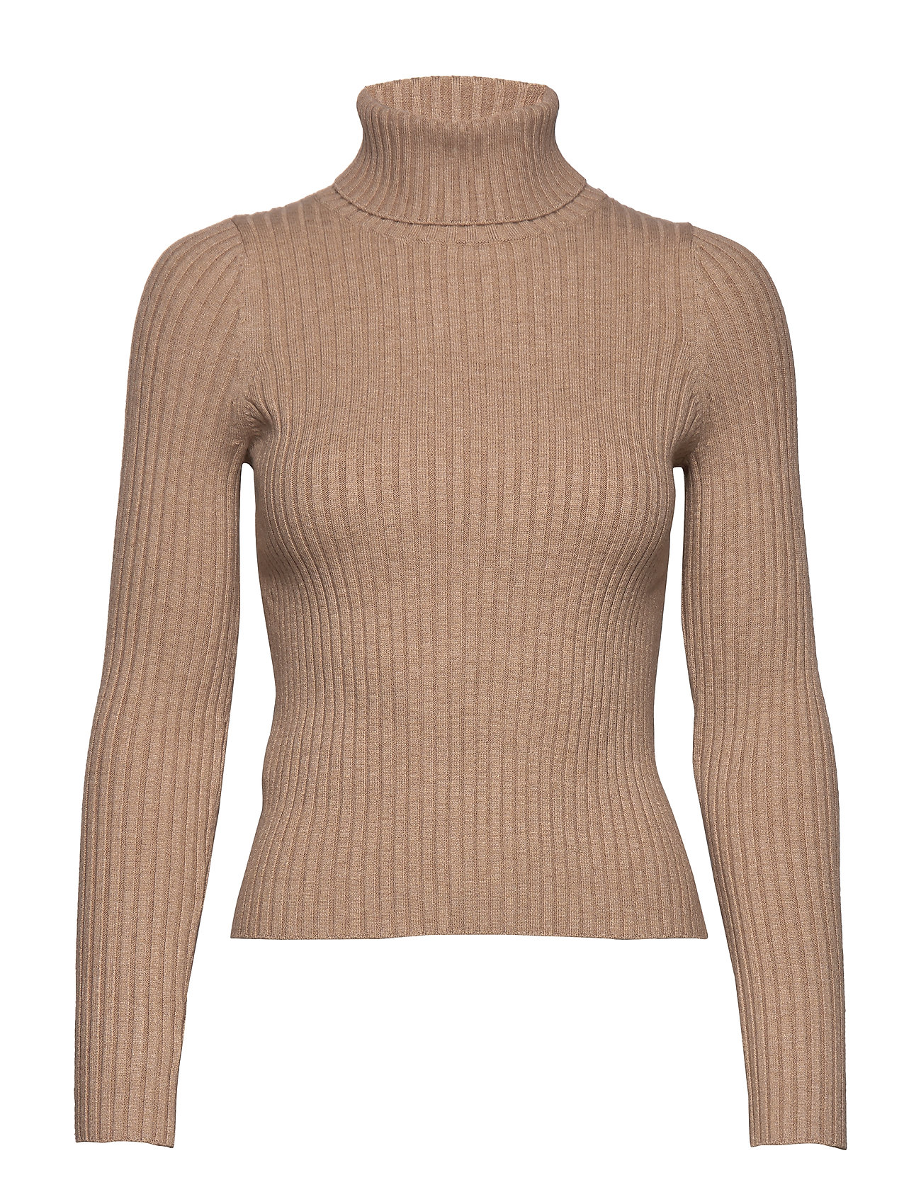 Mango Ribbed recycled polyester sweater - LT PASTEL BROWN