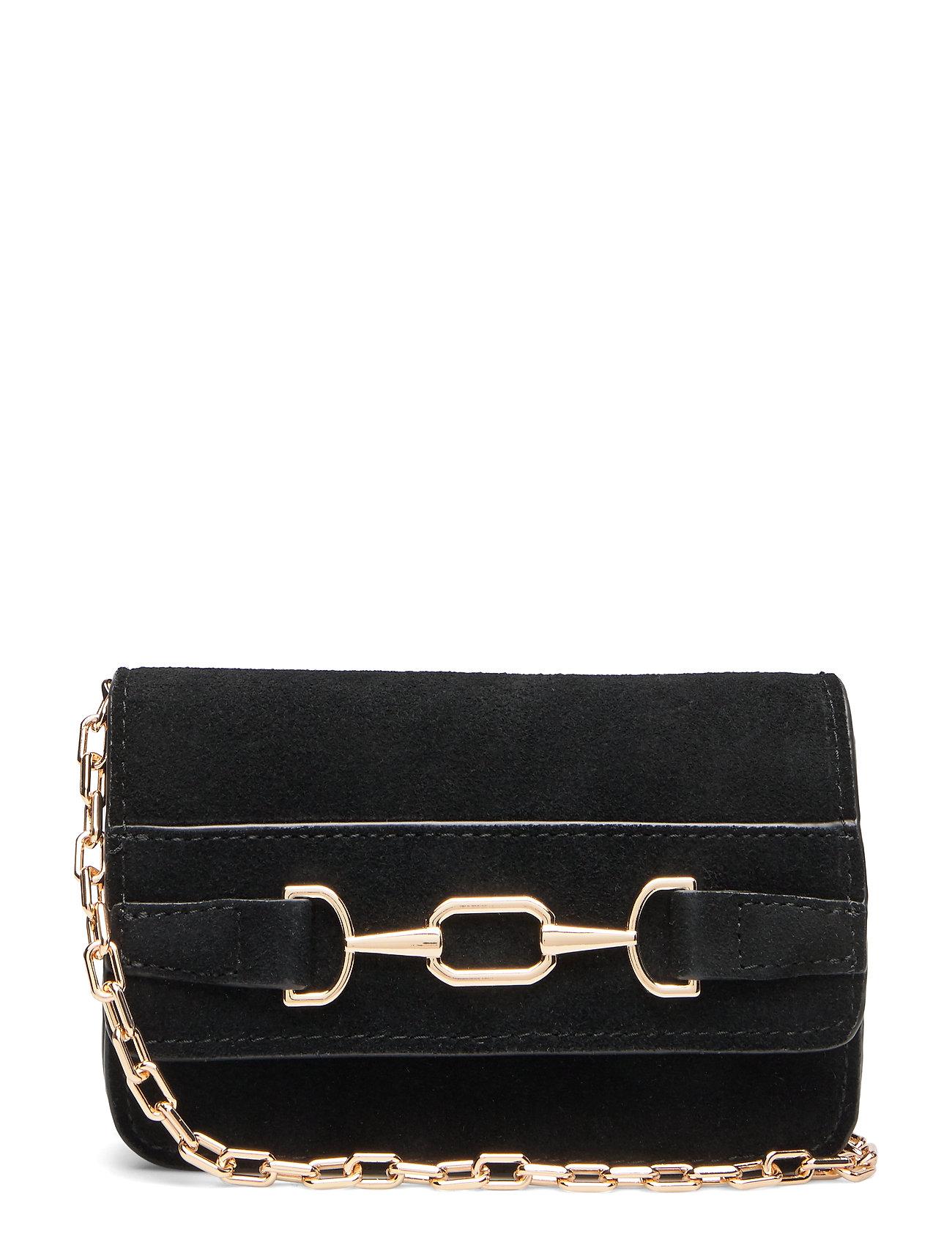 Mango Stirrup leather bag - BLACK