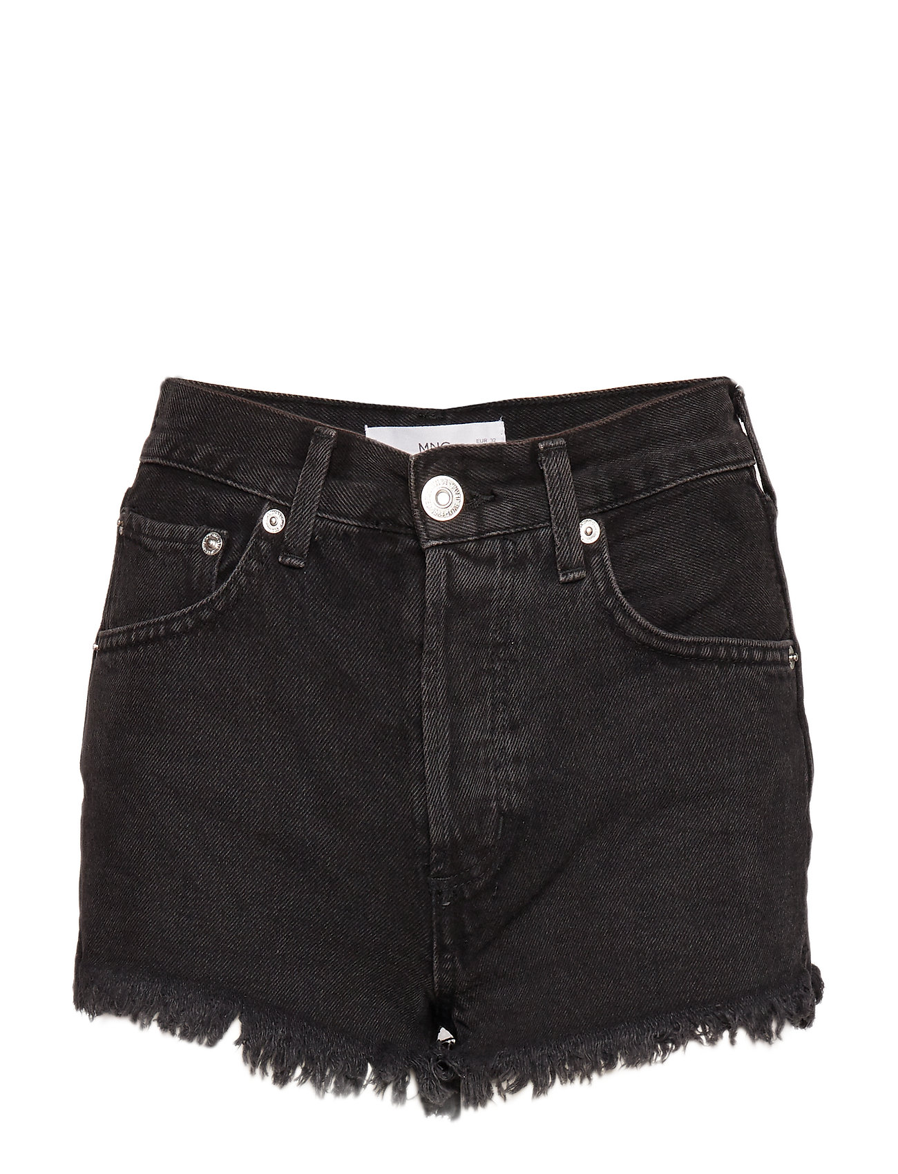 Mango Frayed hem denim shorts - OPEN GREY