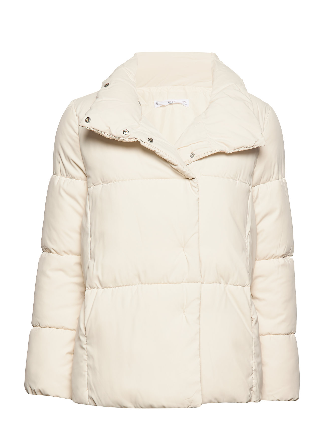 Mango Globes quilted anorak - NATURAL WHITE