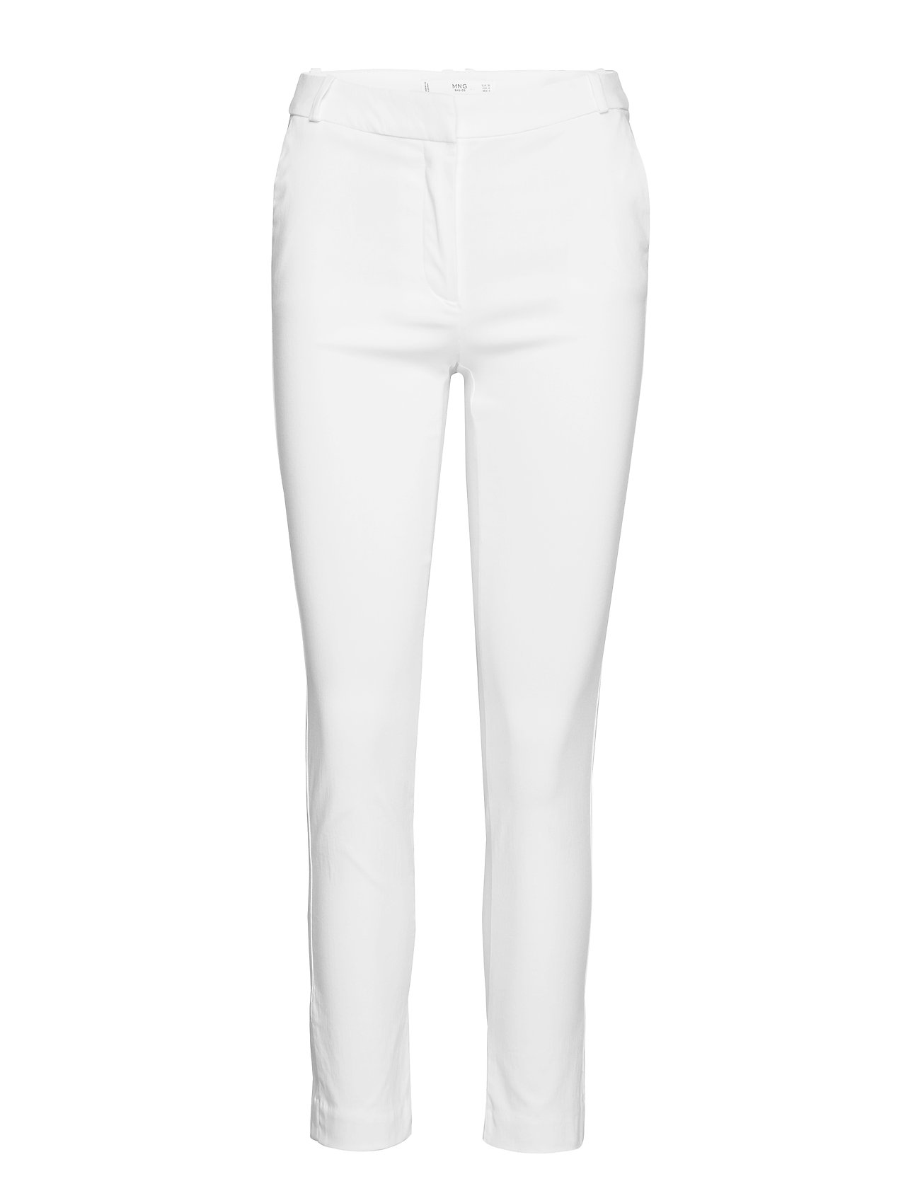 Mango Crop slim-fit trousers - NATURAL WHITE