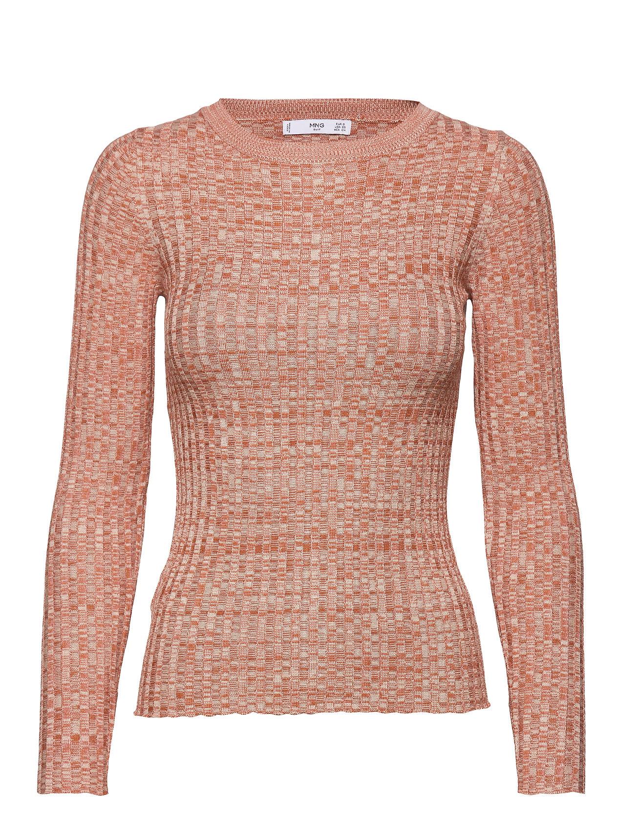 Mango Flecked rib sweater - ORANGE