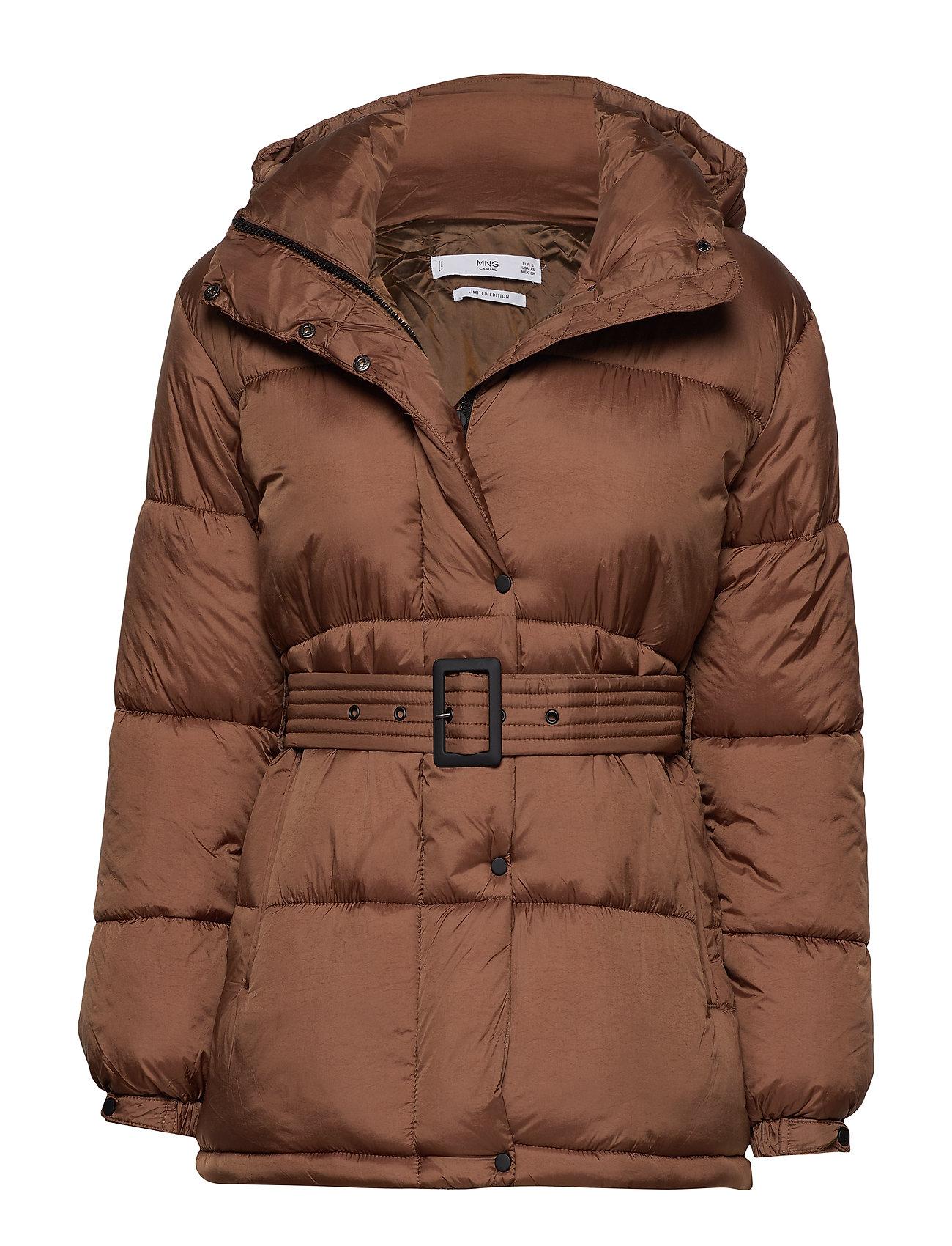 Mango Belted coat - BROWN
