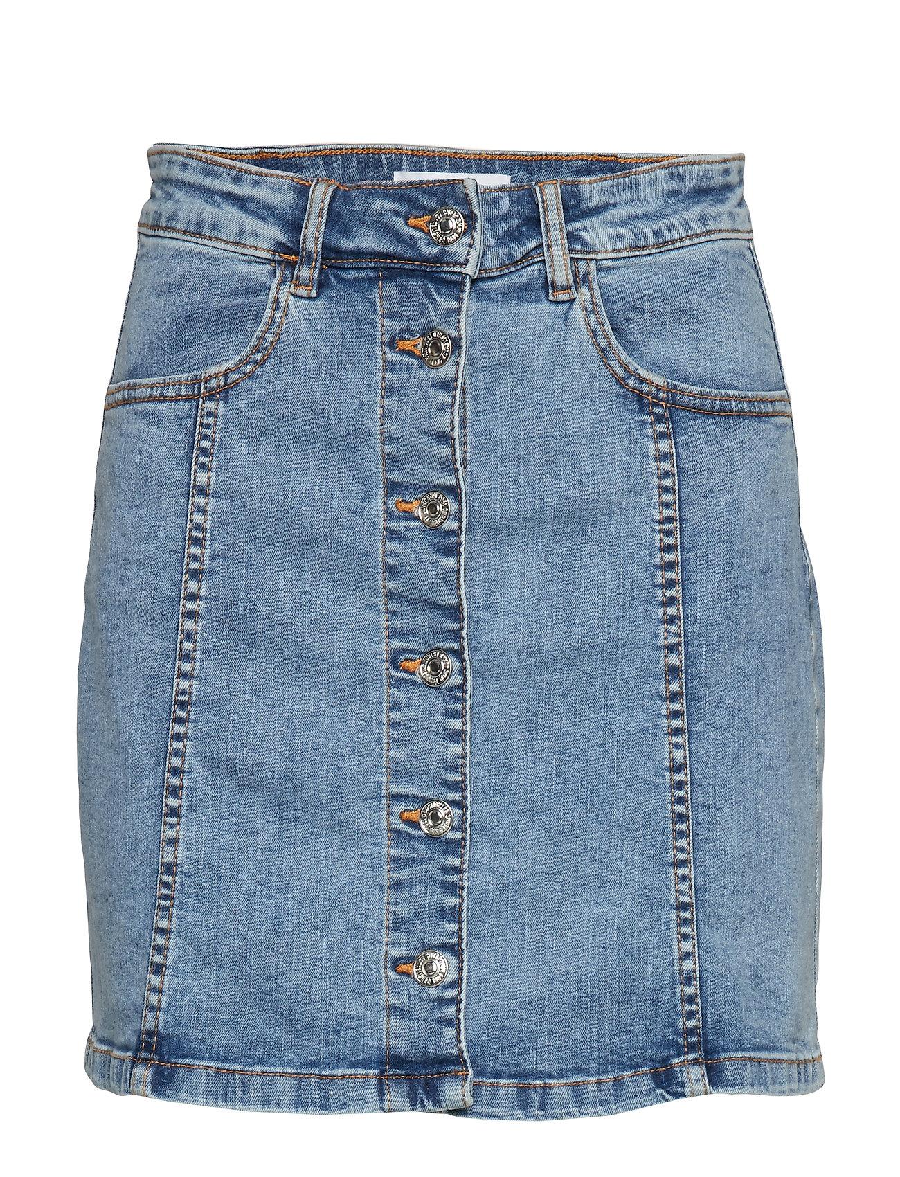 Mango Denim miniskirt - OPEN BLUE