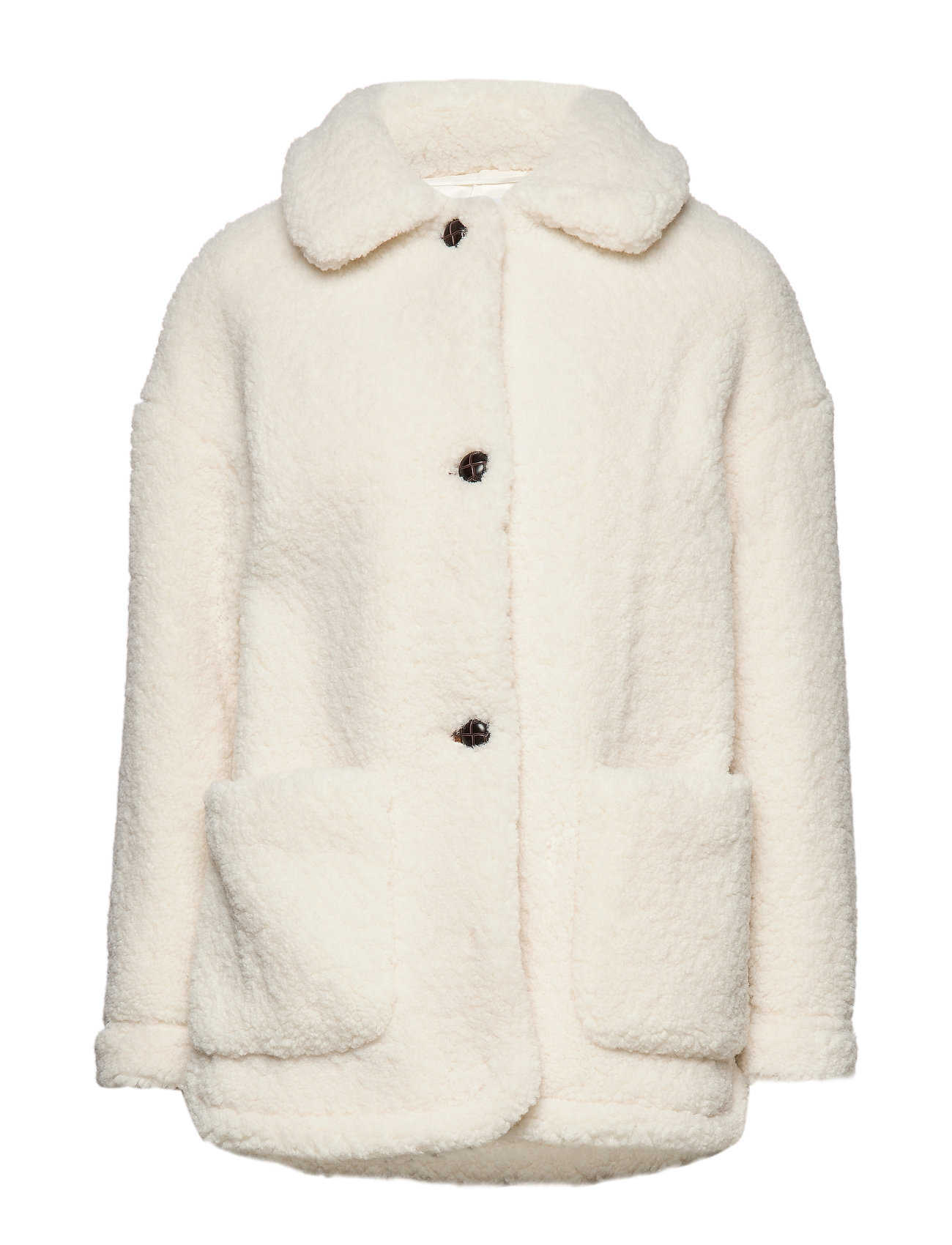 Mango Sheepskin jacket - NATURAL WHITE