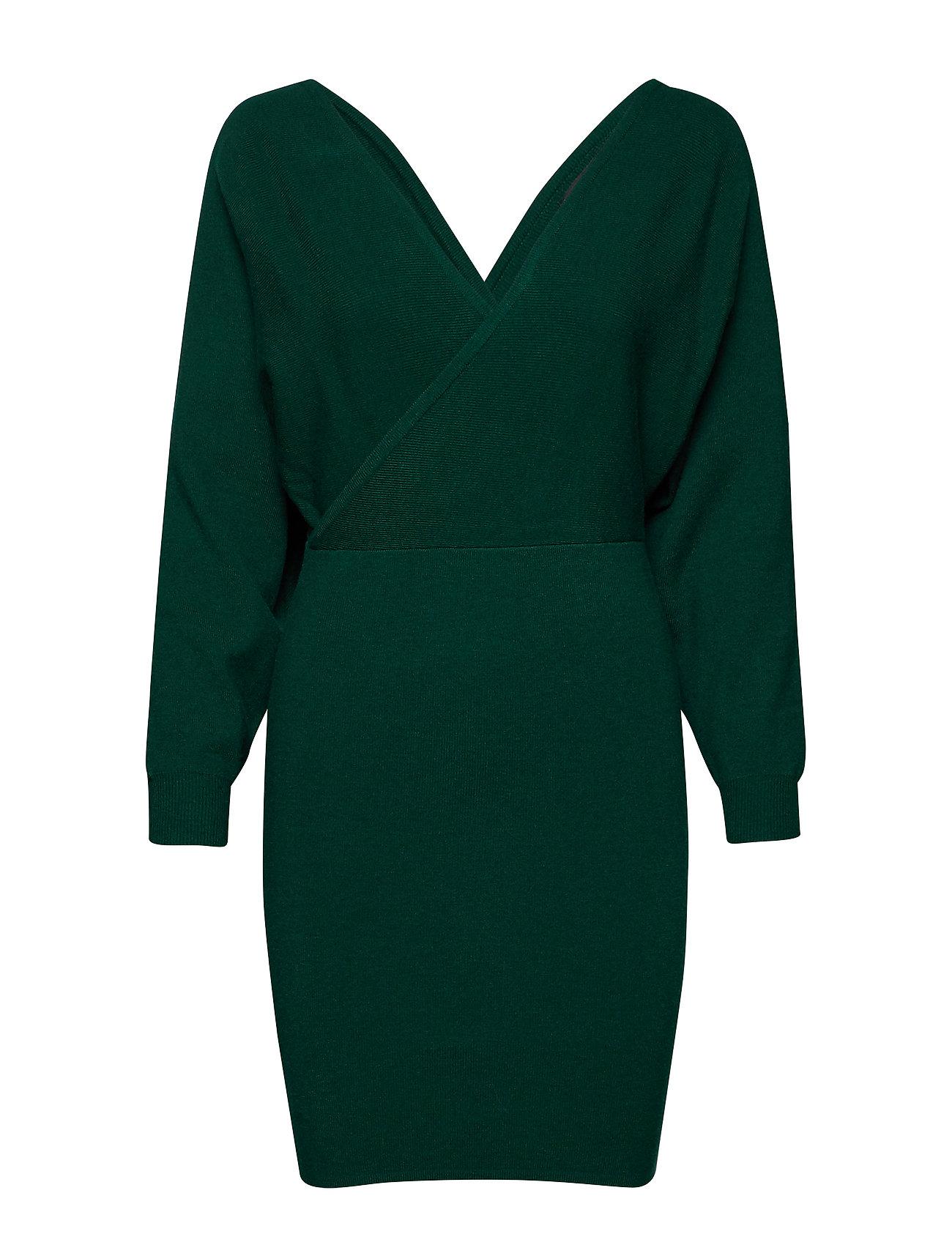 Mango Dolman sleeve dress - DARK GREEN