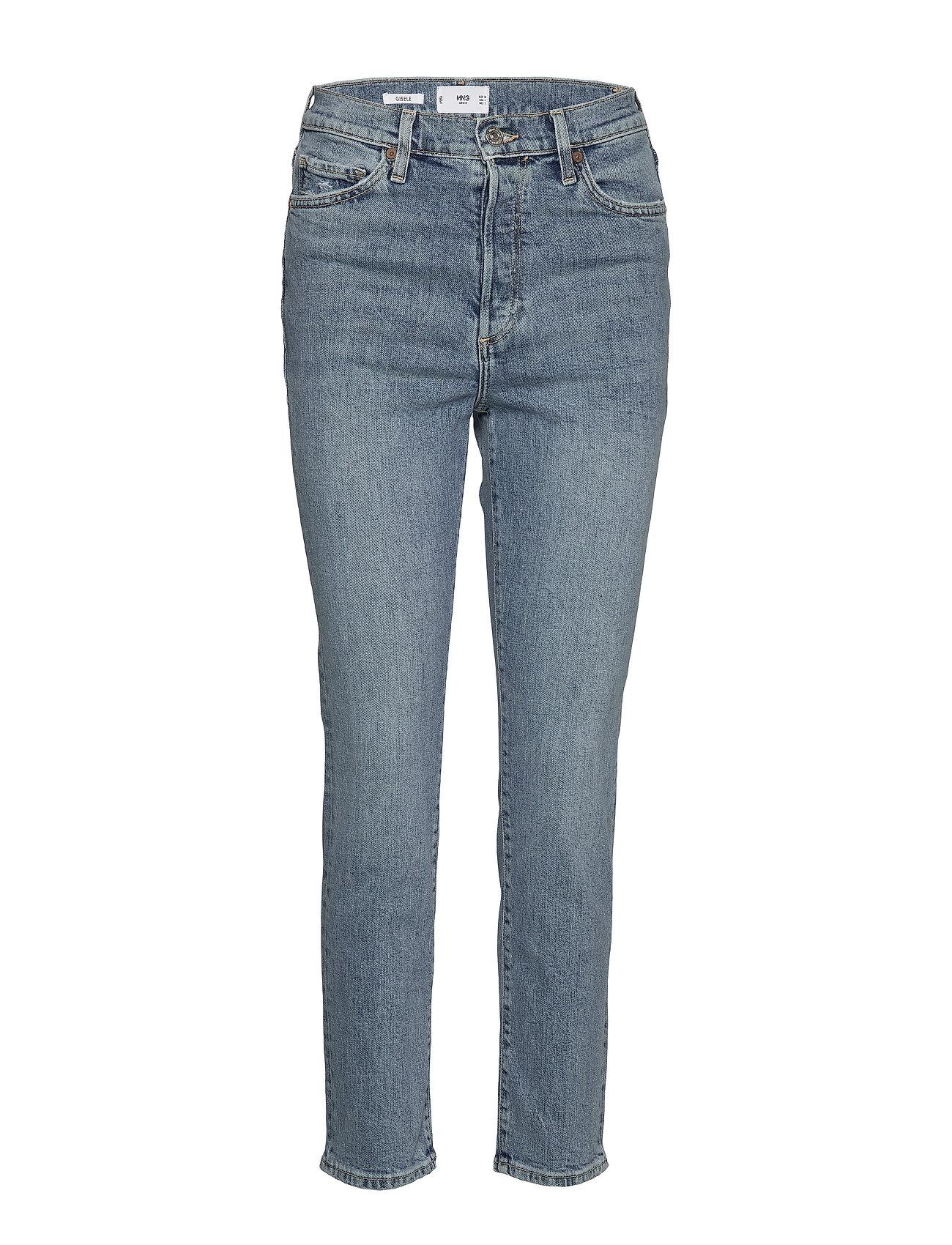 Mango Jeans high waist slim Gisele - OPEN BLUE