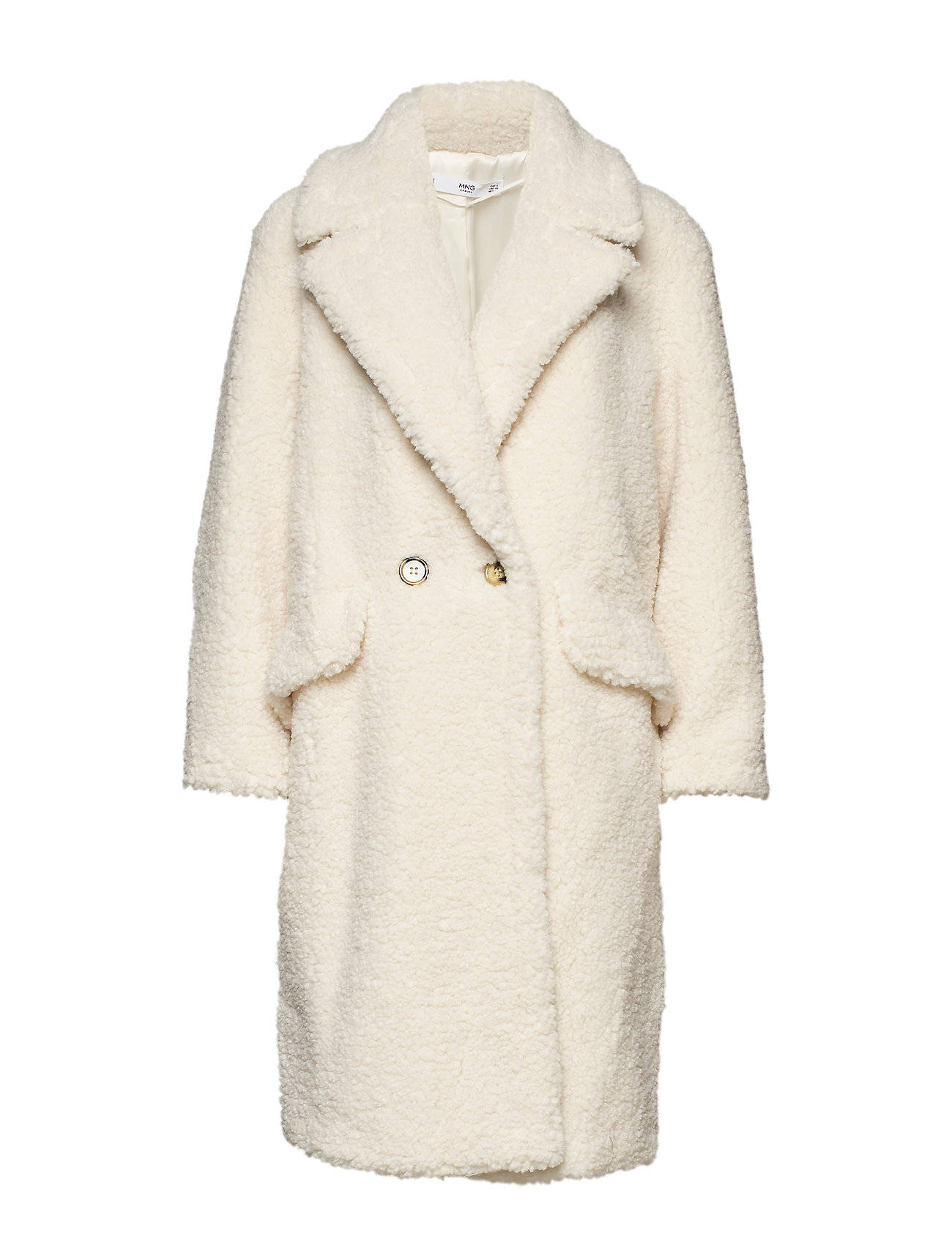 Mango Faux shearling coat - NATURAL WHITE