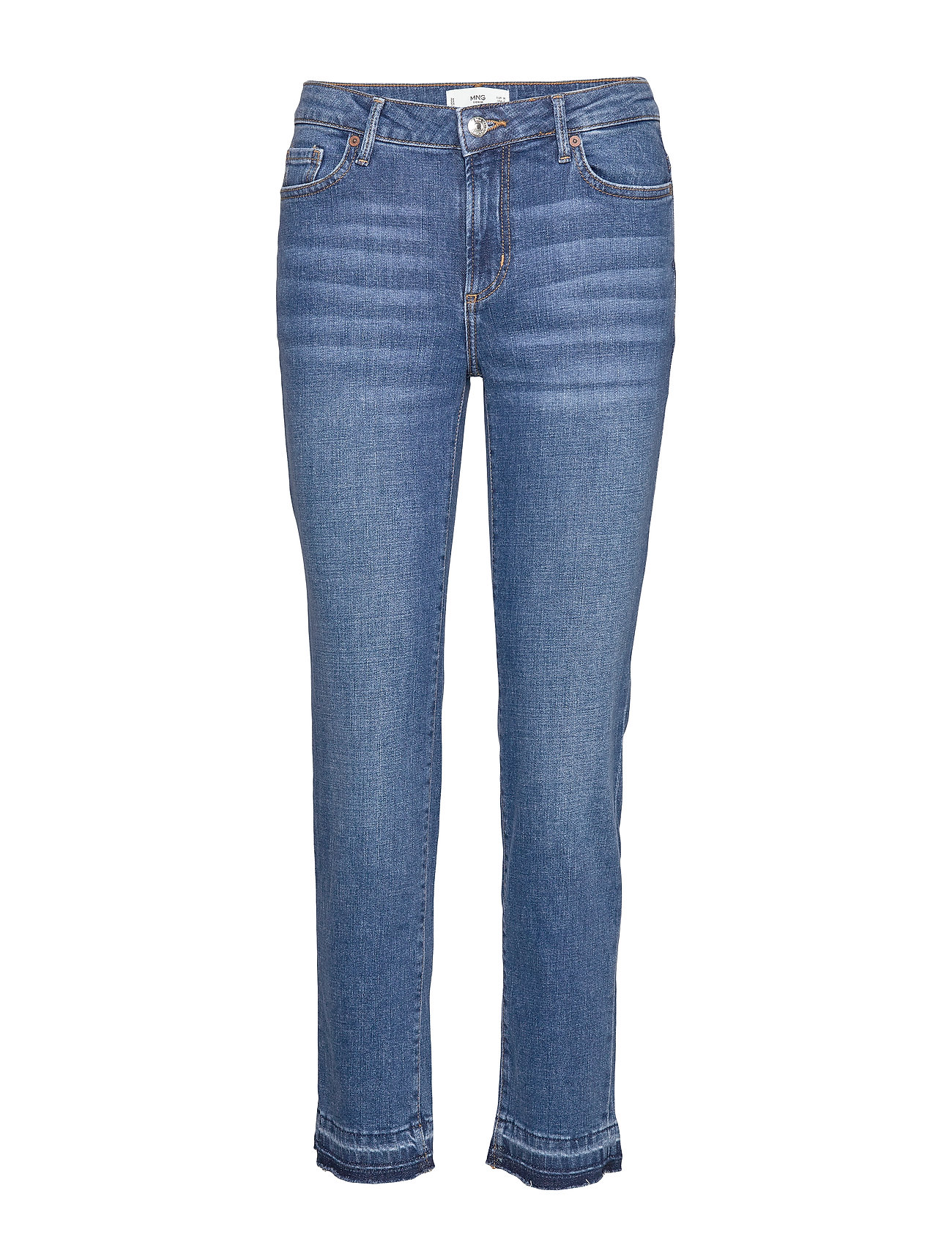 Mango Jeans Slim Cropped - OPEN BLUE