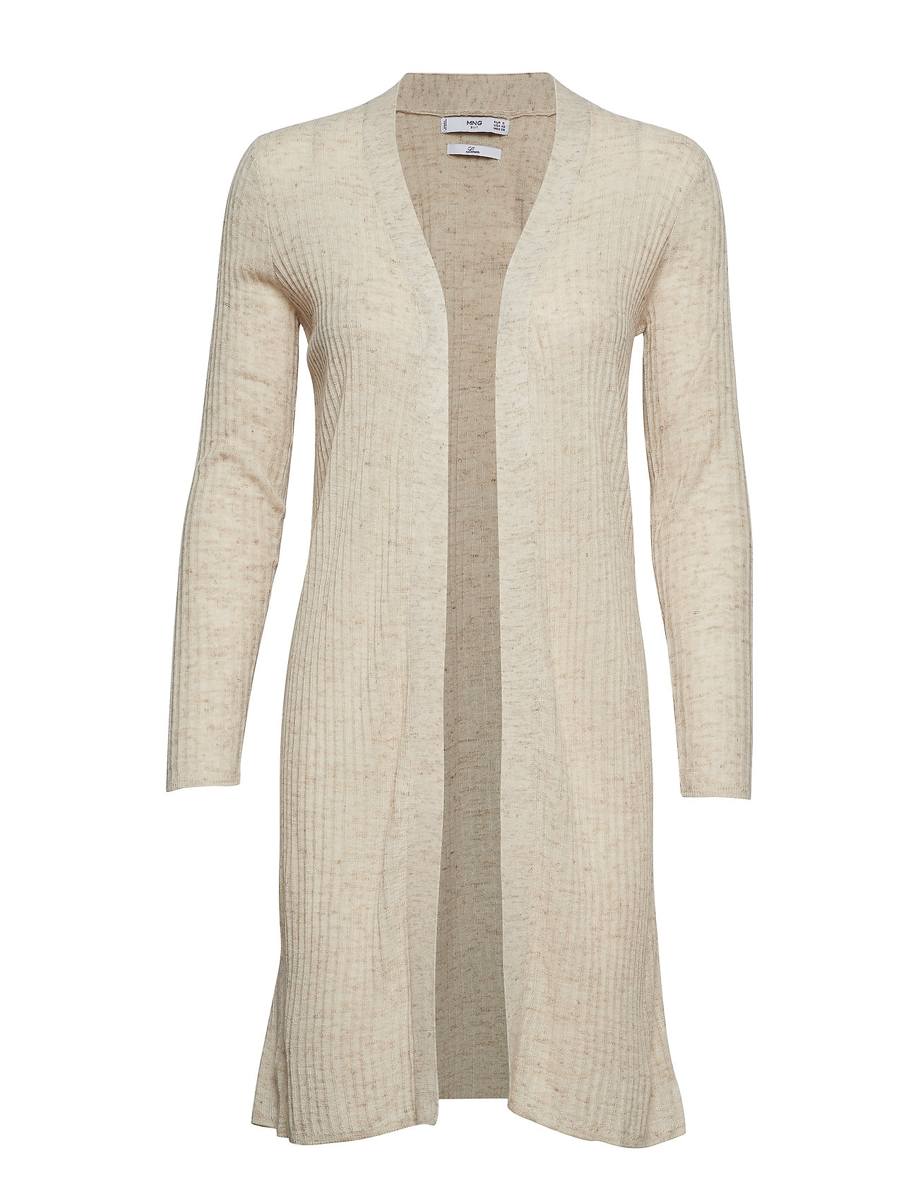 850bf49f Ribbed Long Cardigan (Lt Pastel Brown) (499 kr) - Mango - | Boozt.com