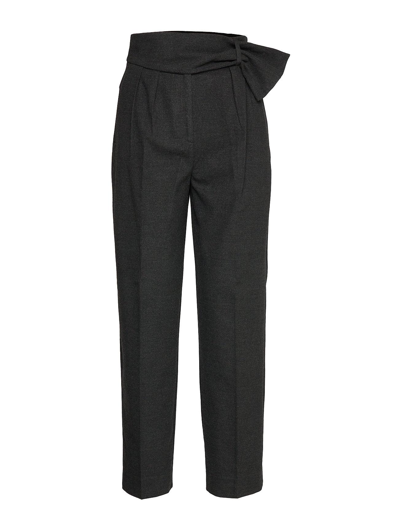 Mango Baggy velvet trousers - DARK GREY