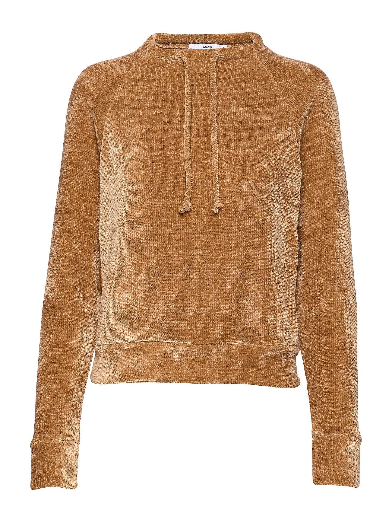 Mango Knit sweatshirt - MEDIUM BROWN
