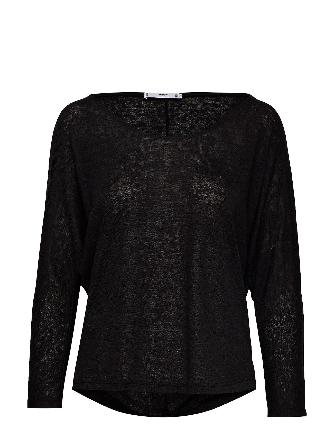 Mango Essential flecked t-shirt - BLACK