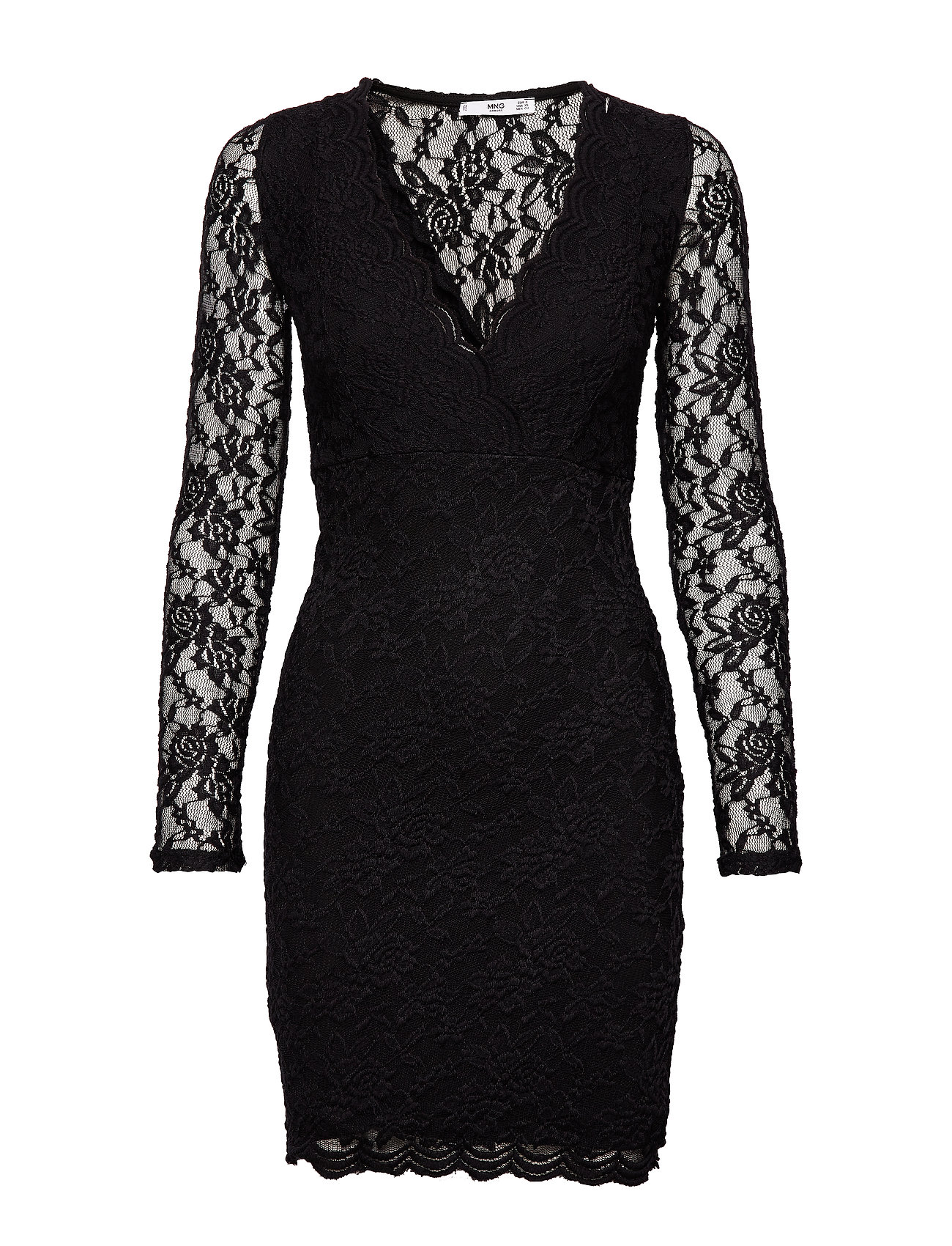 Mango Lace dress - BLACK