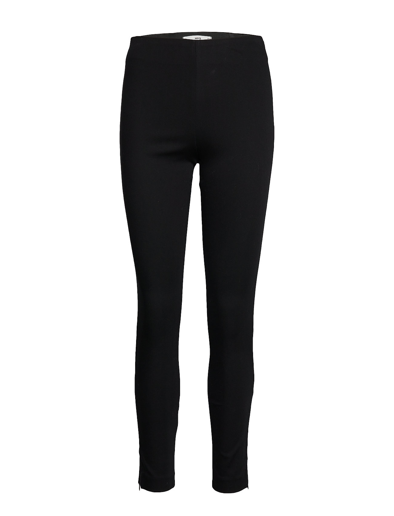 Mango Straight cotton trousers - BLACK
