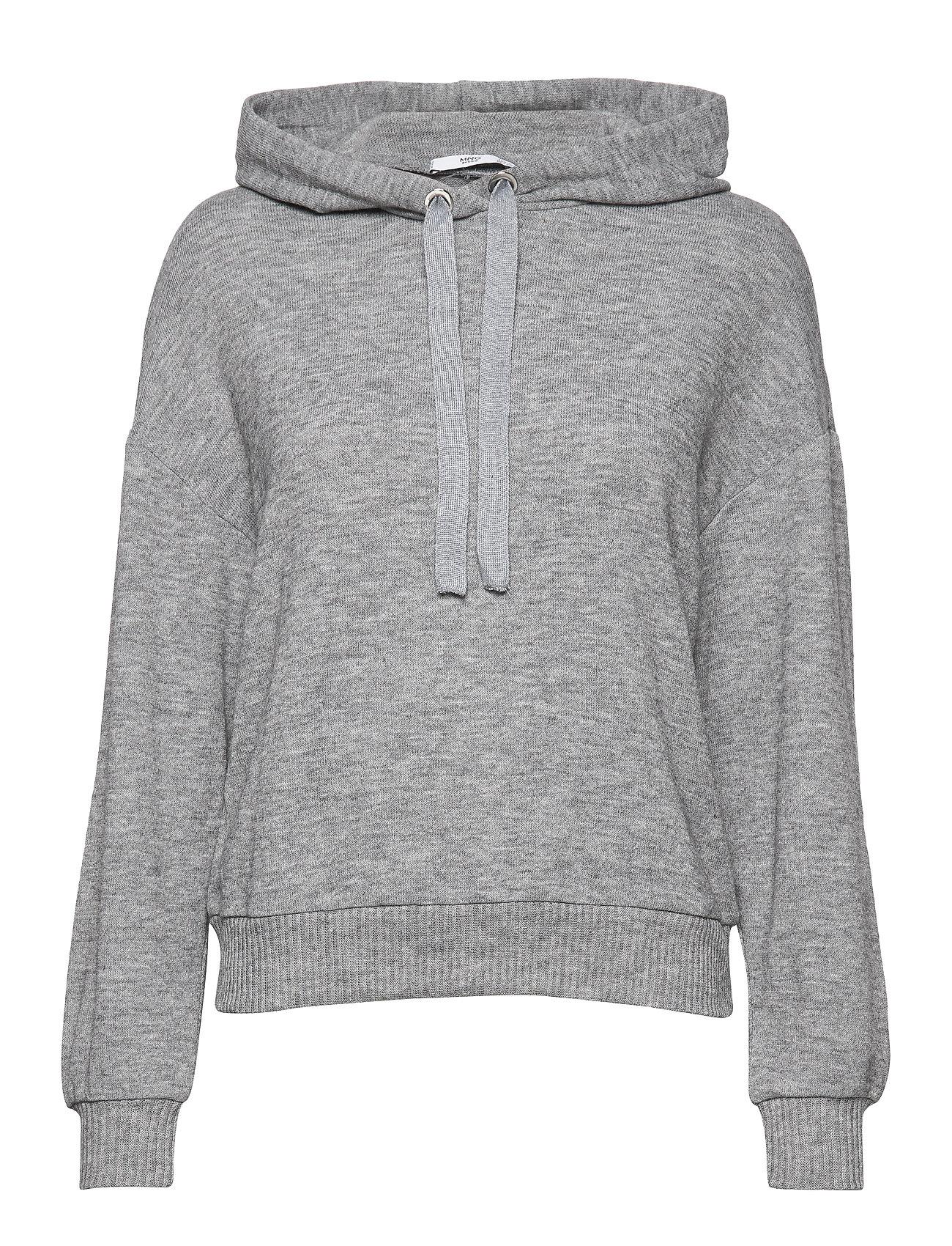 Mango Flecked hoodie - MEDIUM GREY
