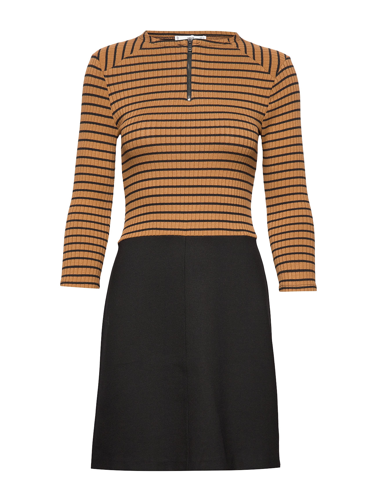 Mango Striped contrast dress - ORANGE