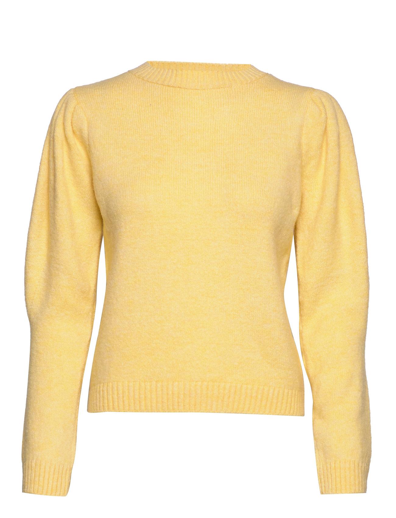 Mango Ribbed knit sweater - YELLOW