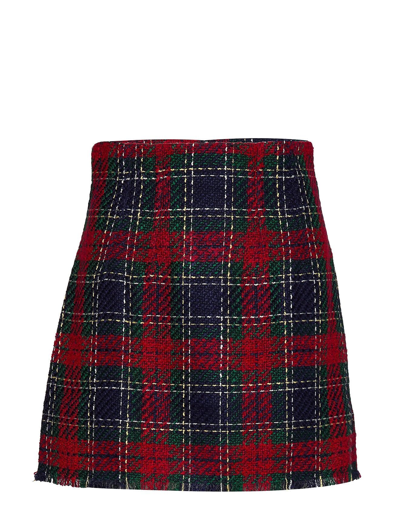 Mango Tweed miniskirt - RED