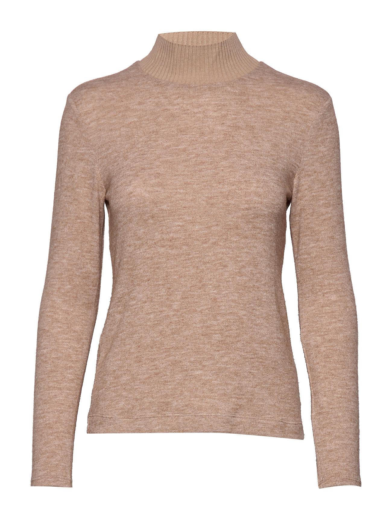 Mango Ribbed knit sweater - LT PASTEL BROWN
