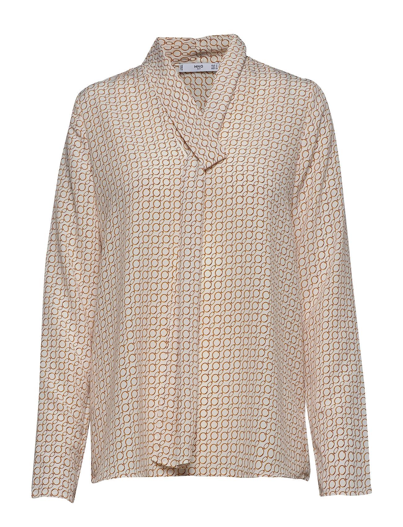 Mango Bow printed blouse - WHITE