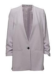 Ruched sleeves blazer - LT-PASTEL PURPLE