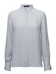 Concealed button shirt - LT-PASTEL BLUE
