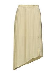 Pleated midi skirt - YELLOW