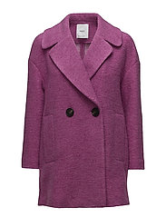 Unstructured wool-blend coat