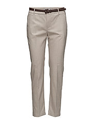 Cotton suit trousers - MEDIUM BROWN