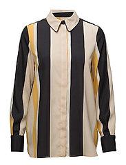 Striped blouse - ORANGE