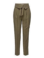 Paper bag soft trousers - BEIGE - KHAKI